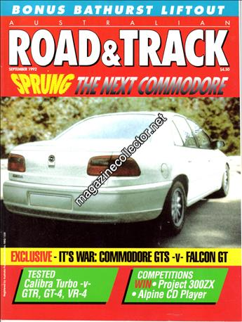Australian Road Track September 1992 Volume 3 No 8 Magazine Contents And Index