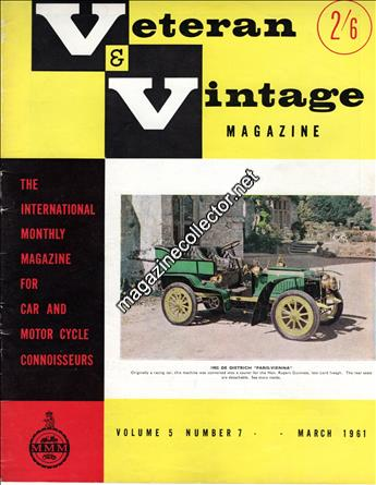 March 1961 (Volume 5 No. 7)