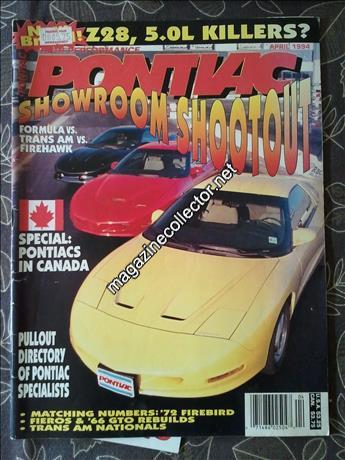High Performance Pontiac (United States) magazine index and