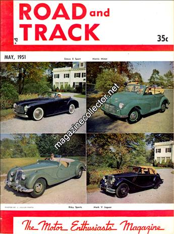 1951 Road and Track magazine July August issue Bridgehampton Road Race