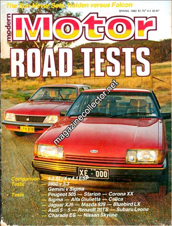 Spring 1982 Road Tests (No. 2)