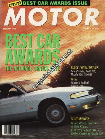 Motor Australia February 1992 Volume 38 No 9 Magazine